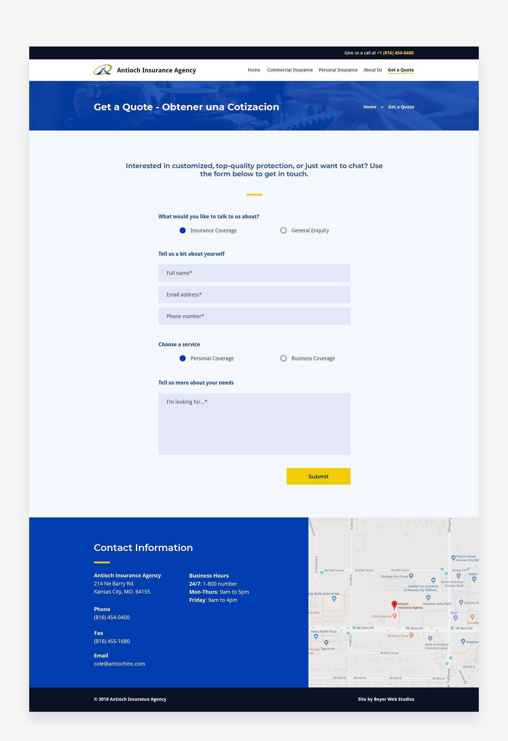 Antioch Insurance Contact